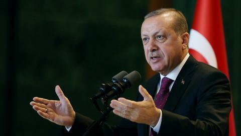 Erdogan says Turkey will stay in Cyprus