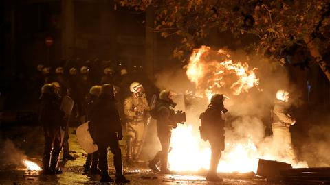 Greek police clash with protesters on anniversary of police shooting