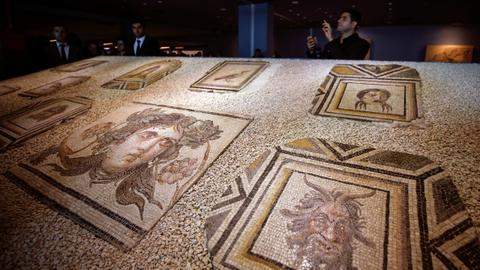 Turkey displays ancient mosaics returned from US