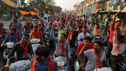 Hindu nationalists rally in New Delhi demanding temple at disputed site