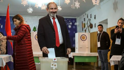 Polls close in Armenia's snap parliamentary elections
