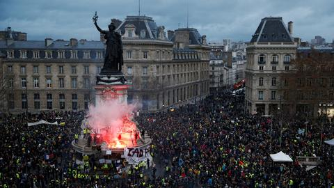 Yellow vests go global as protest movements around the world adopt it
