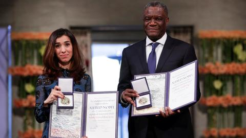 Nobel laureates urge world to help victims of rape in conflict