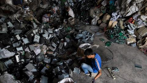 Amount of e-waste that end up in garbage has increased dramatically