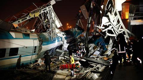 At least nine people dead in Ankara train crash