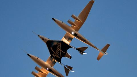 Virgin Galactic completes crewed space test