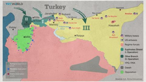 Mapping the targets of Turkey's new military operation in northern Syria