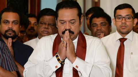 Sri Lanka's disputed PM Mahinda Rajapaksa resigns