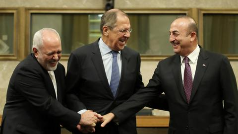 Russia, Iran and Turkey agree on Syria constitutional body, call for talks