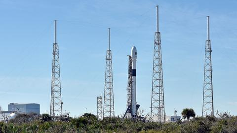 SpaceX halts launch of US military satellite due to winds
