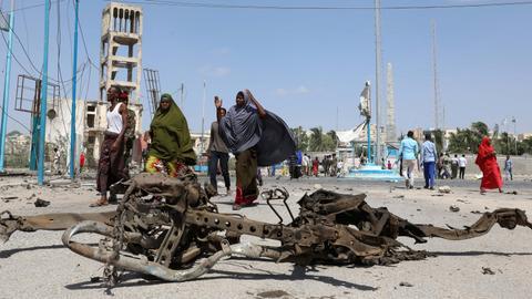 Double bombing kills at least 16 in Somalia