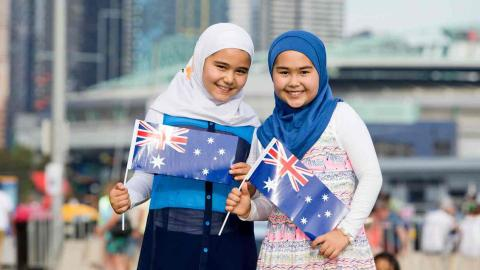Why are two Muslim girls causing a stir in Australia?