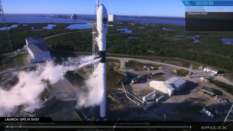 SpaceX launches first US national security space mission