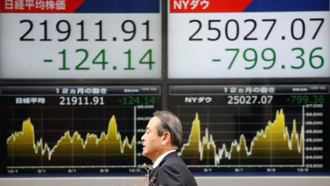Asian markets battered as US stocks continue to slide
