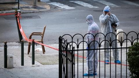 Explosive device wounds two people in central Athens