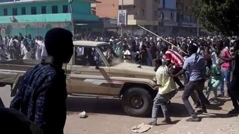 Sudan police fire stun grenades at protesters near capital