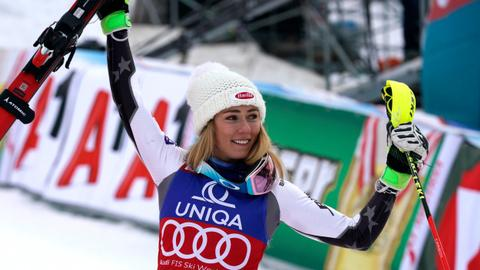 American Mikaela Shiffrin wins record 36th World Cup slalom