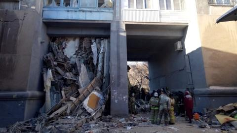 Search of collapsed building in Russia ends with 39 deaths