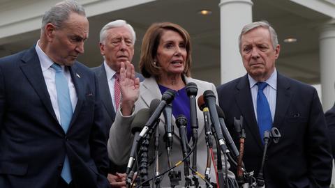 Pelosi says no State of Union for Trump amid shutdown