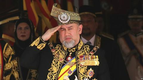 Malaysia's king steps down from throne