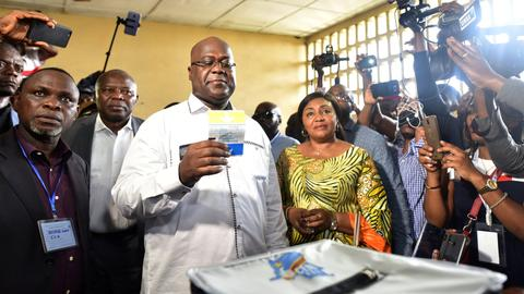 DRC election commission says opposition's Tshisekedi won presidential vote
