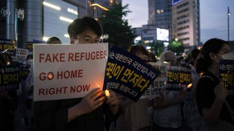 What are 500 Yemeni refugees doing on a tiny South Korean island?