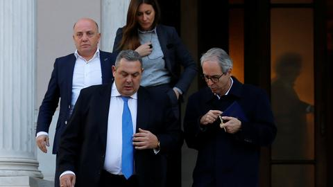 Greek defence minister quits over Macedonia name deal, coalition in doubt