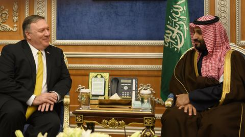 Pompeo meets Saudi leaders, cancels Kuwait visit