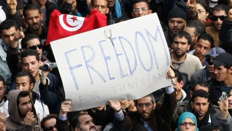 Eight years on, Tunisians say revolt gave them 'freedom' but not 'dignity'