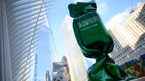 Ground zero art exhibit featuring Saudi flag to be moved