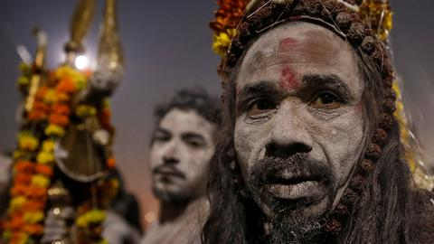 In pictures: Millions gather in India for world's largest festival