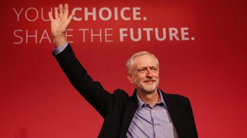 Britain's eurosceptic Labour leader backs staying in EU