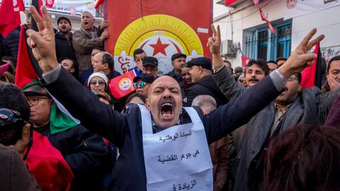In pictures: Tunisia wage strike hits normal life