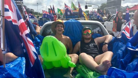 Why were there celebrations and protests on Australia Day?