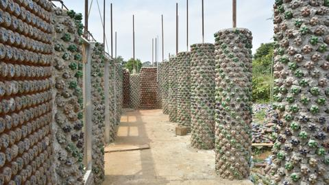 How discarded plastic bottles are turned into affordable houses in Nigeria
