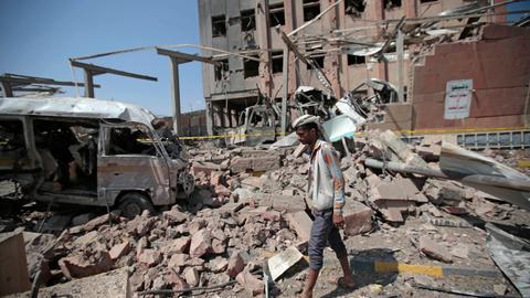 Saudi-led coalition launch air strikes on Yemeni capital