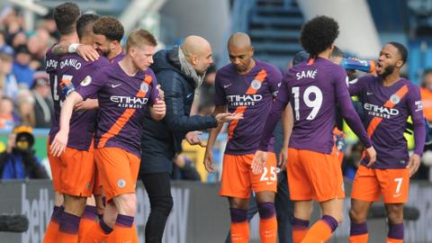 Man City ease past Huddersfield, Spurs win at Fulham