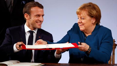 France, Germany try to 'show the way forward' for embattled EU project