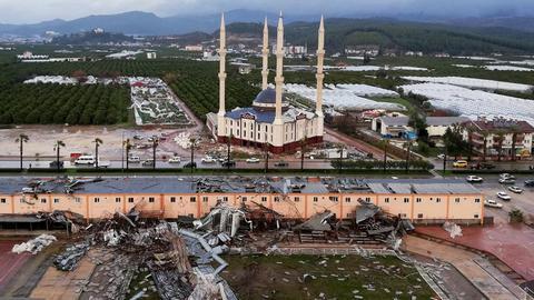 Powerful tornado kills two in Turkey's Antalya