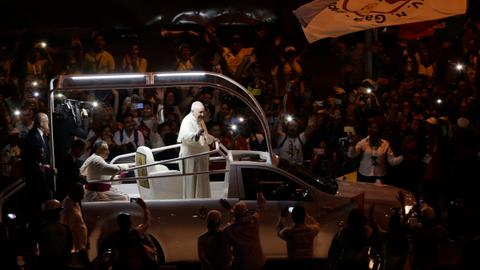 Pope says killing of women a 'plague' in Latin America