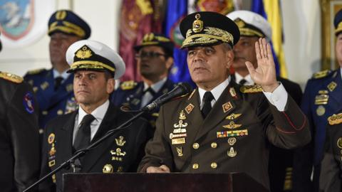 Venezuela's military stands with Nicolas Maduro against Guaido opposition