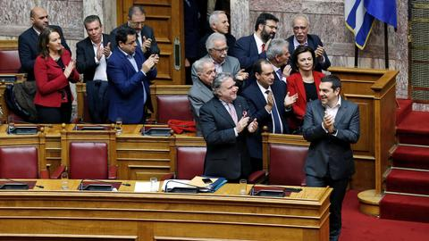 Greece approves Macedonia name change deal after three-day debate