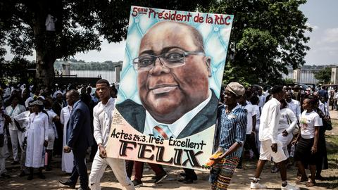 The thorns in the new DRC president's side