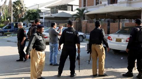 Militant attack on Pakistan police kills at least 13