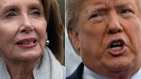 Trump and Pelosi stances on wall suggest deal will be difficult