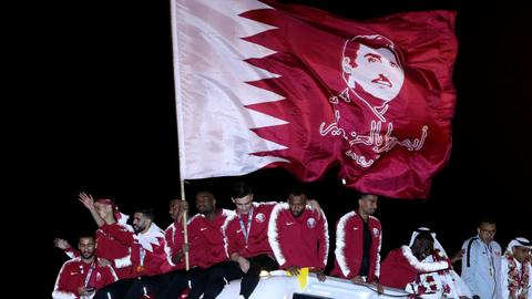 Asian Cup winners Qatari national team greeted by huge crowds at home