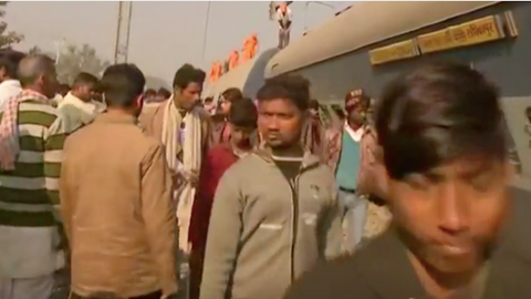 At least eight die after train derails in India