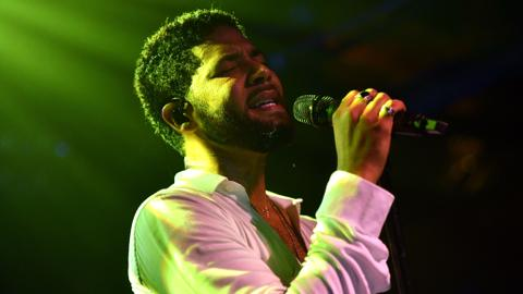 Actor Jussie Smollett performs first time after attack