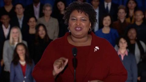 Abrams rebuts Trump: 'We do not succeed alone'