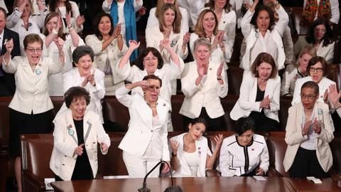 Democrat women wear white at State of the Union